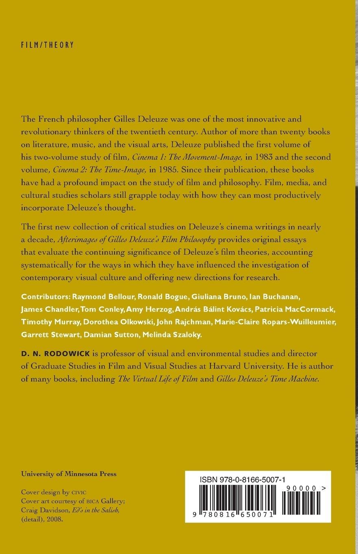 Buy Afterimages of Gilles Deleuze's Film Philosophy