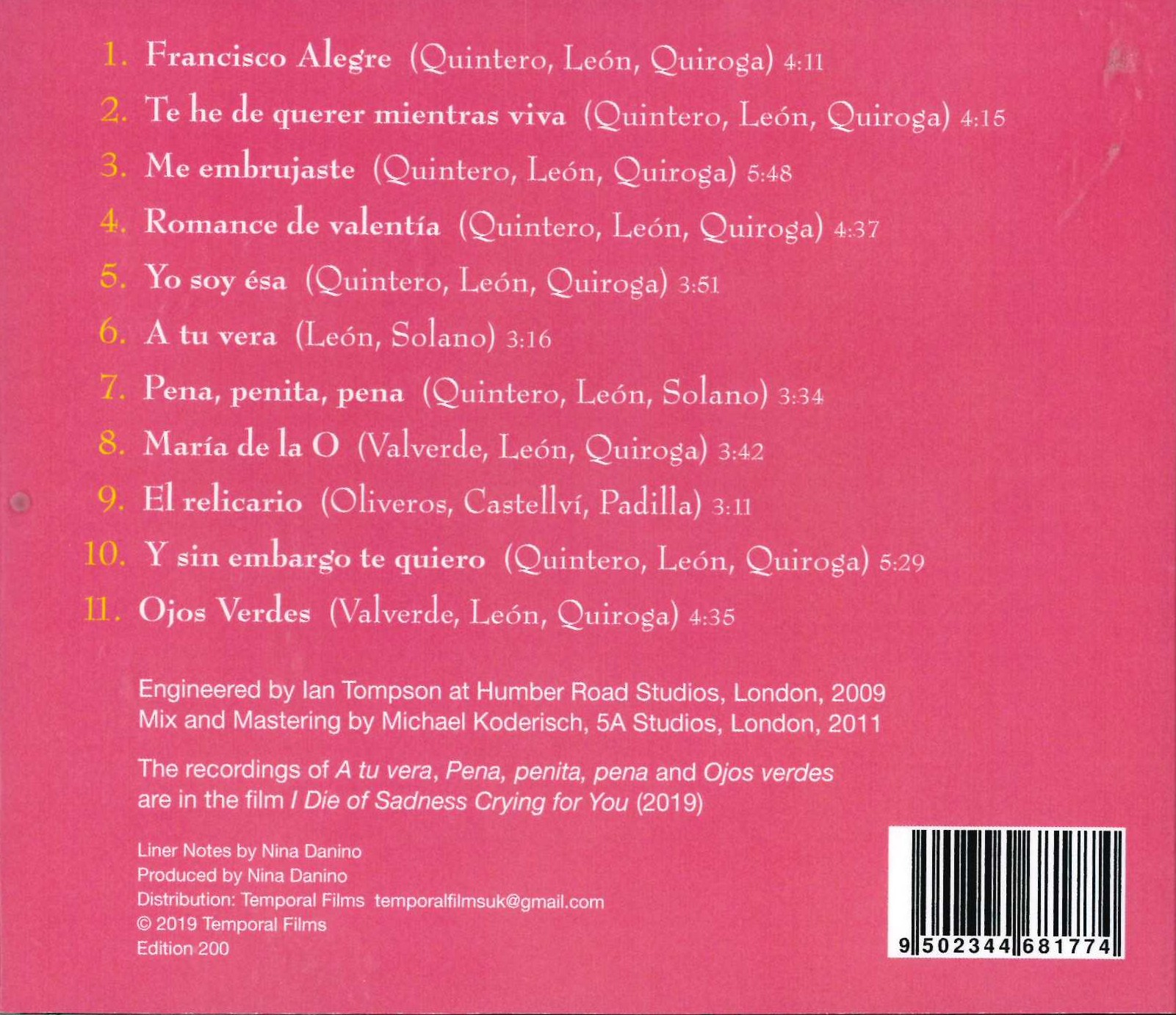 Buy Eleven Copla Songs (CD)