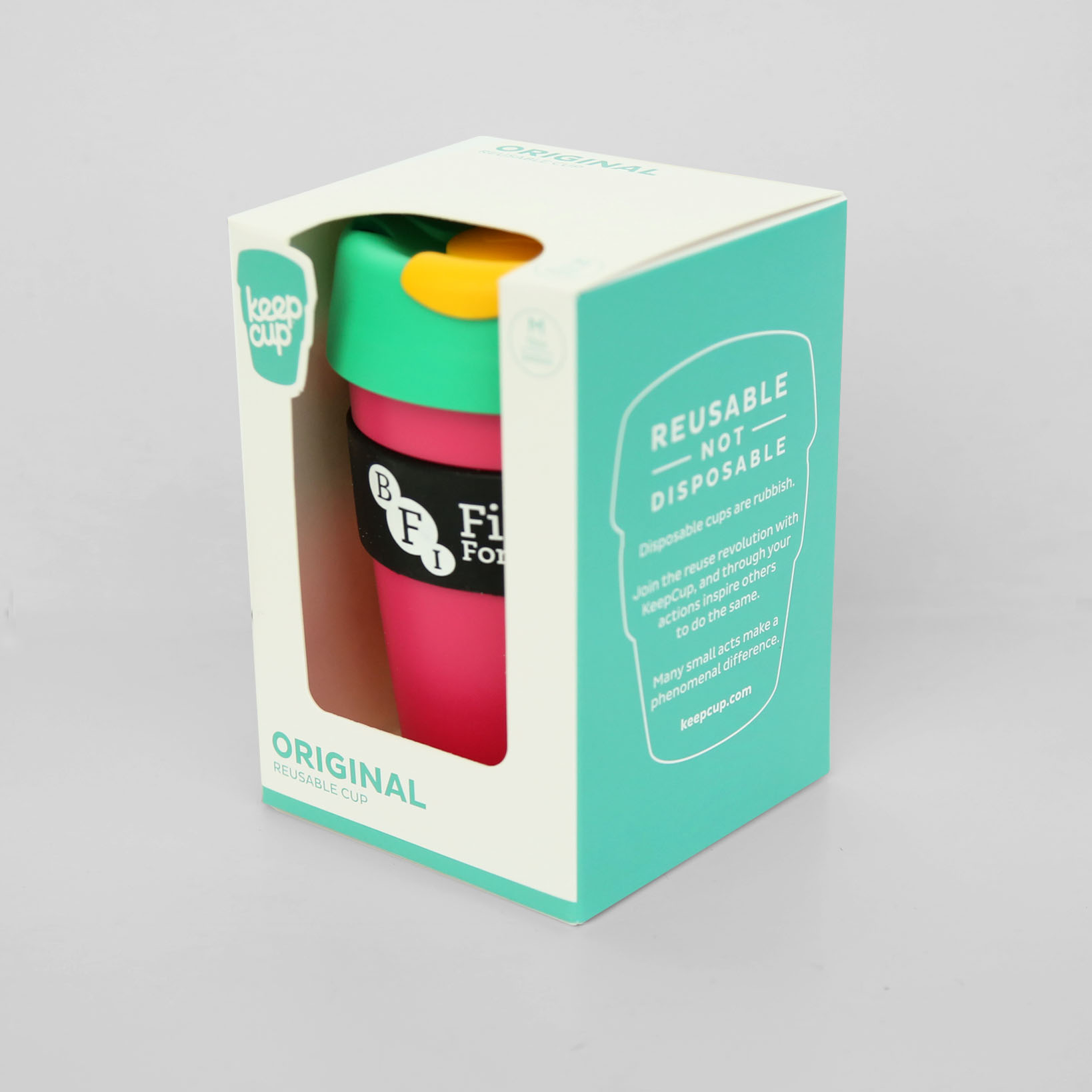 Buy BFI KeepCup (Pink / Green / Yellow)