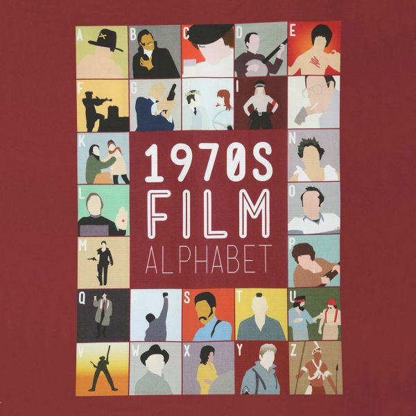 Film Alphabet Tote Bag: 1970s print