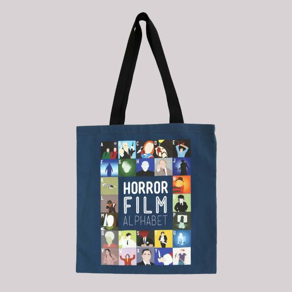 Film Alphabet Tote Bag: Horror