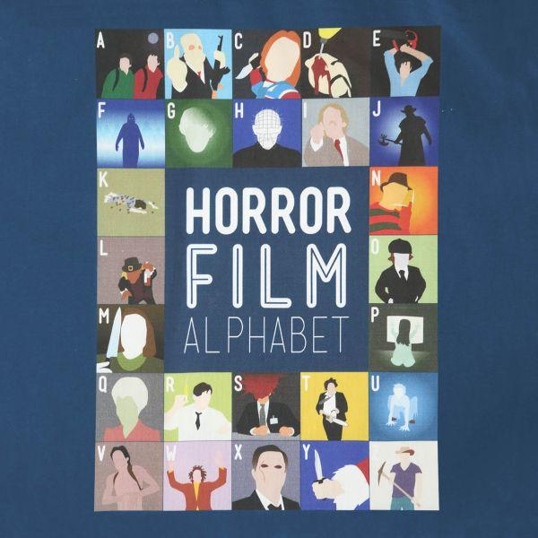 Film Alphabet Tote Bag: Horror print