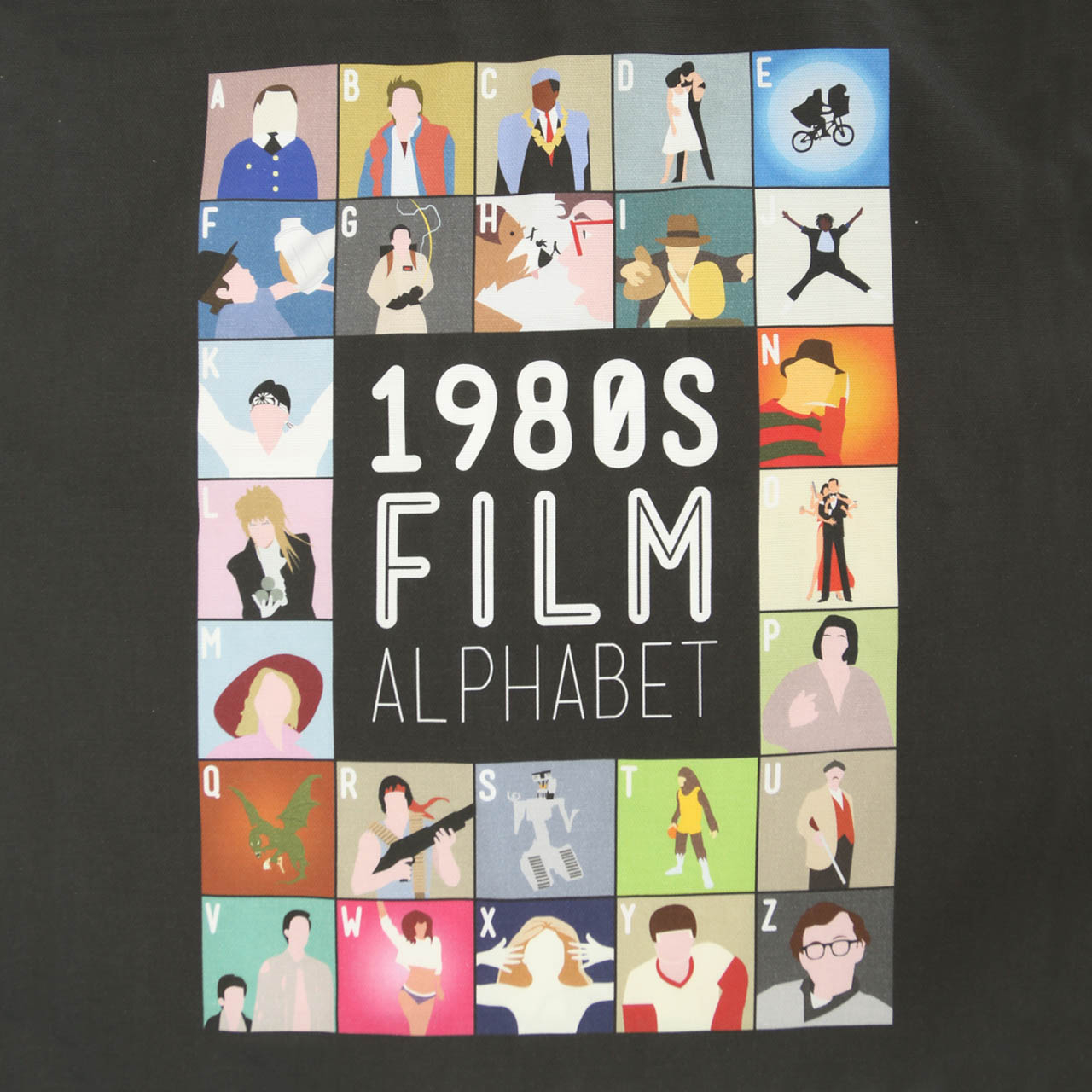 Buy Film Alphabet Tote Bag: 1980s
