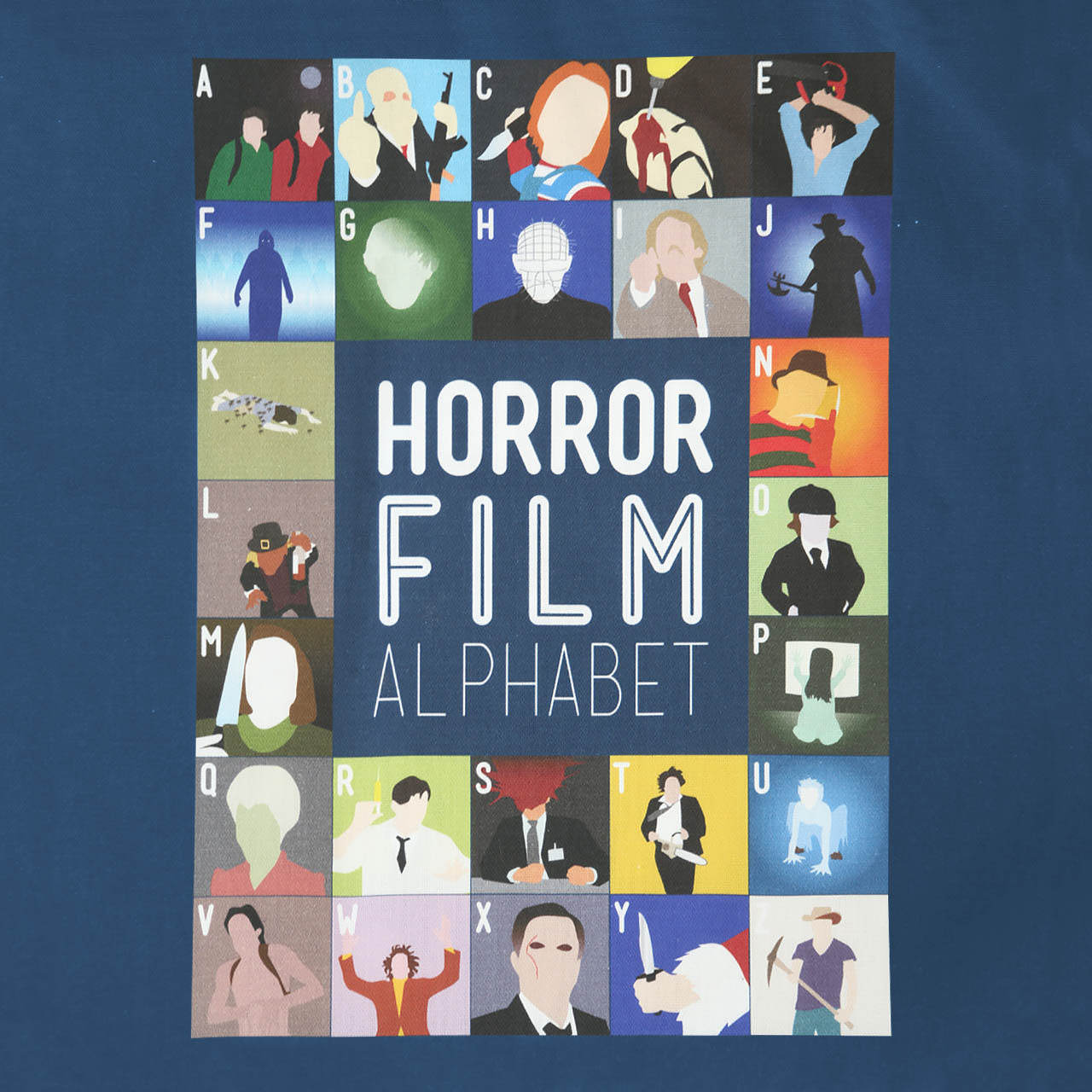 Buy Film Alphabet Tote Bag: Horror