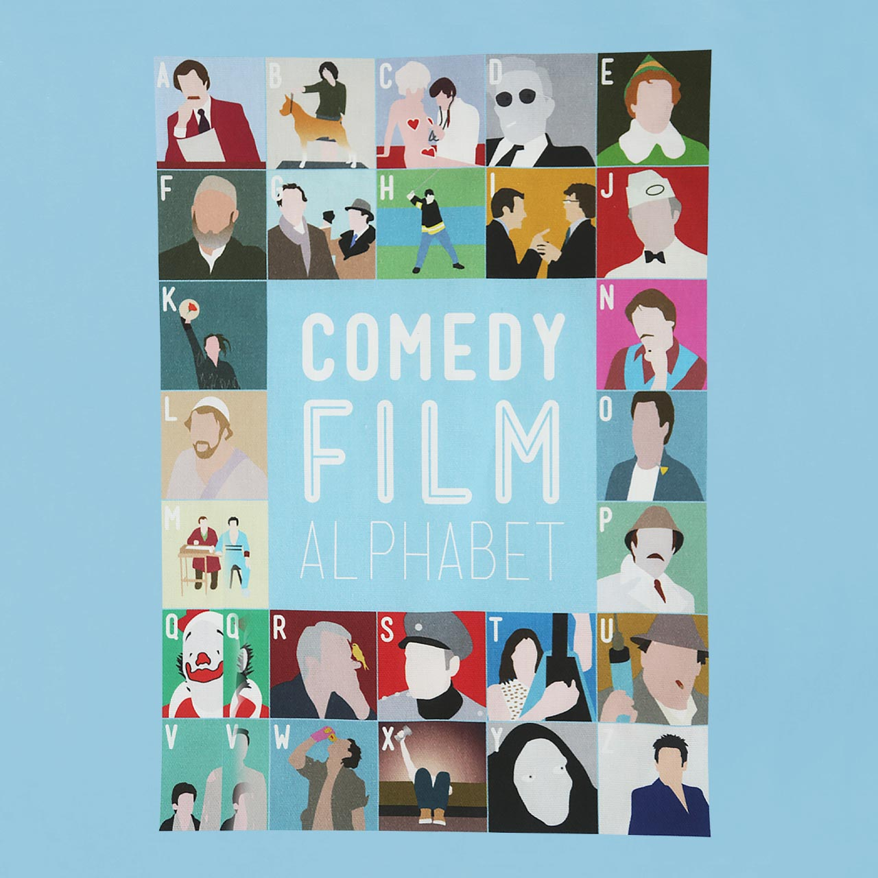 Buy Film Alphabet Tote Bag: Comedy