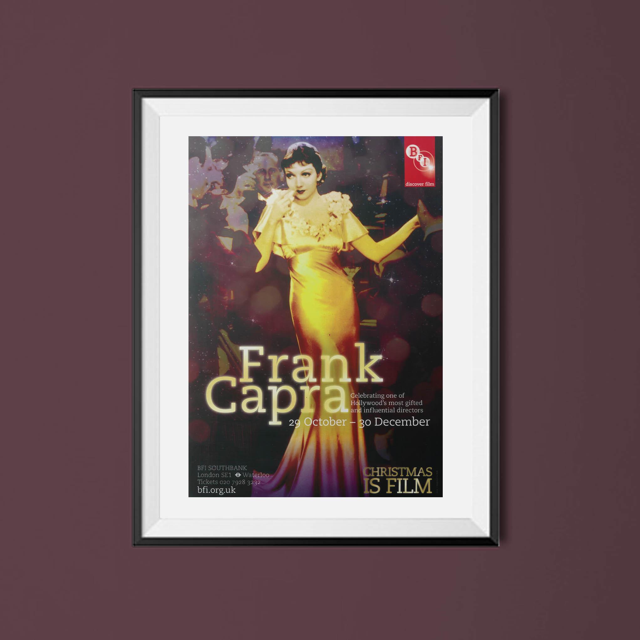 Buy Frank Capra BFI season poster