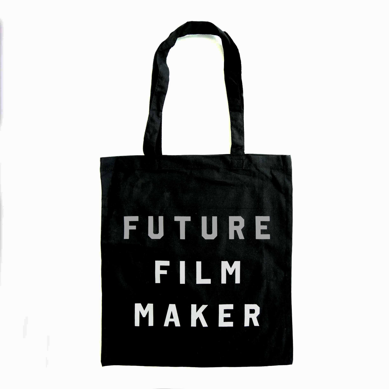 Buy Future Film Maker Metallic Print Tote Bag (Black)