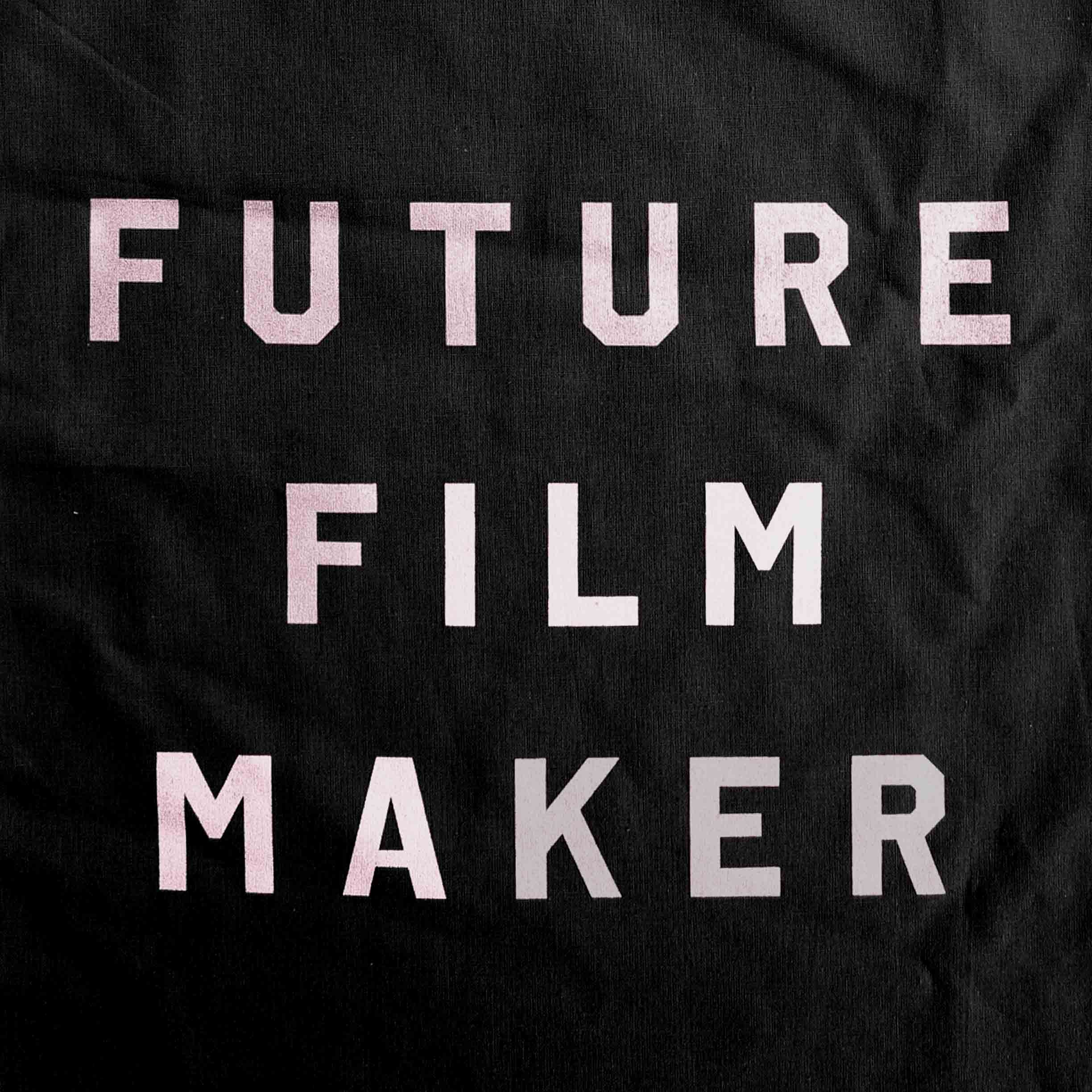 Buy Future Film Maker Metallic Print Tote Bag (Black)