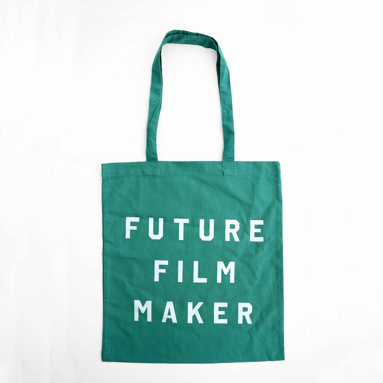 Buy Future Film Maker Metallic Print Tote Bag (Green)