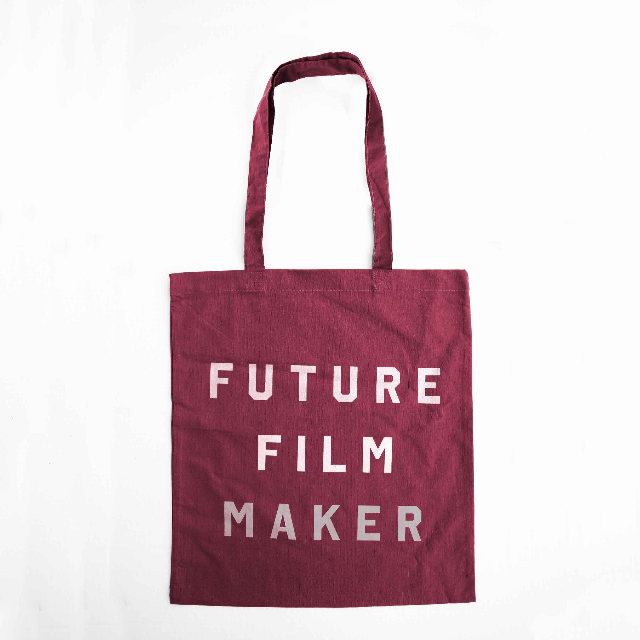 Buy Future Film Maker Metallic Print Tote Bag (Red)
