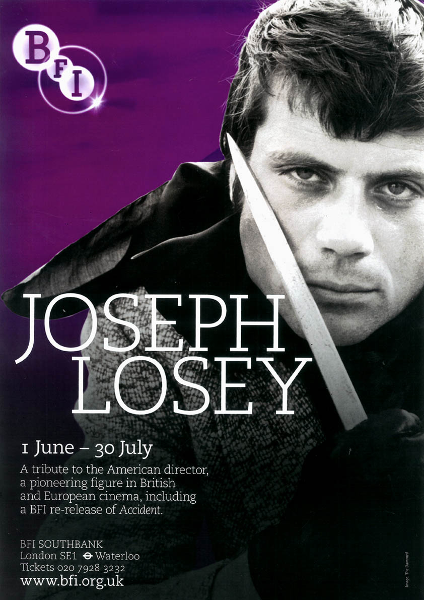 Buy Joseph Losey BFI season poster